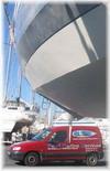 Berlingo BMS sous bateau Ovni